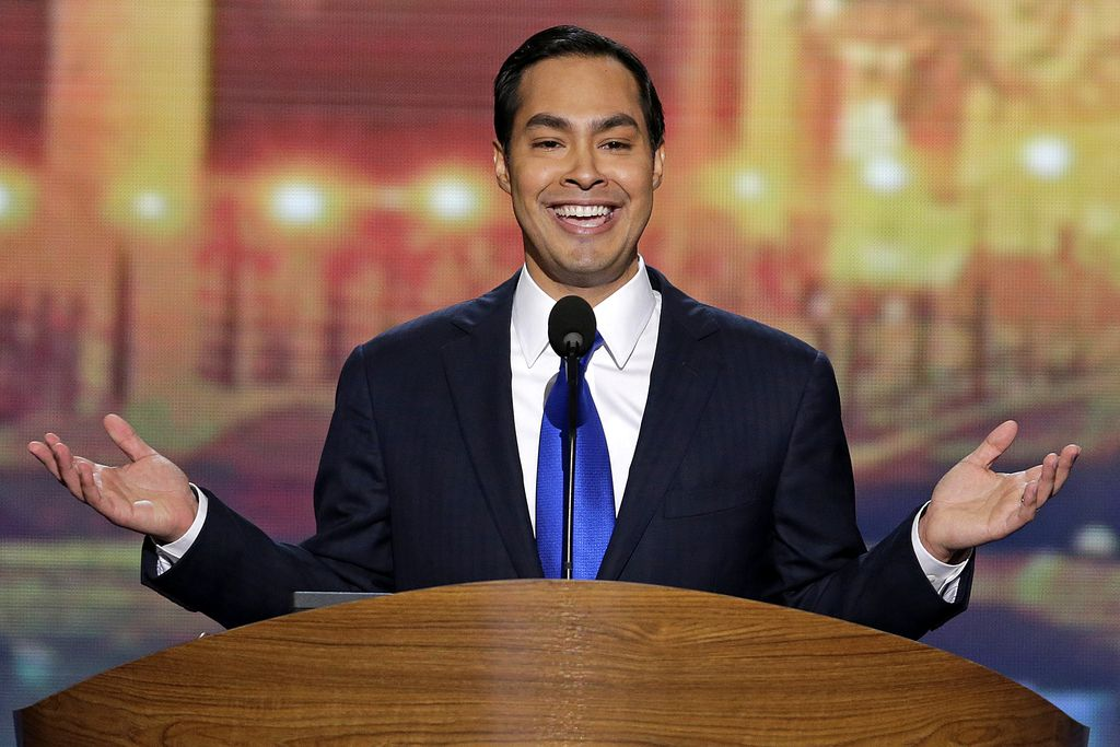 In this Sept. 4, 2012, photo, San Antonio Mayor Julian Castro addressed the Democratic National Convention in Charlotte, N.C. — a high-profile assignment that made him a rising Democratic star.