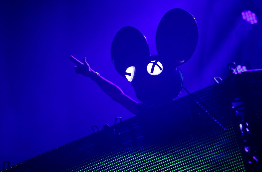 DeadMau5 photographed during the Lights All NIght Festival at the Dallas Convention Center in Dallas, TX, on Dec. 27, 2013. (Jason Janik/Special Contributor) 12302013xARTSLIFE