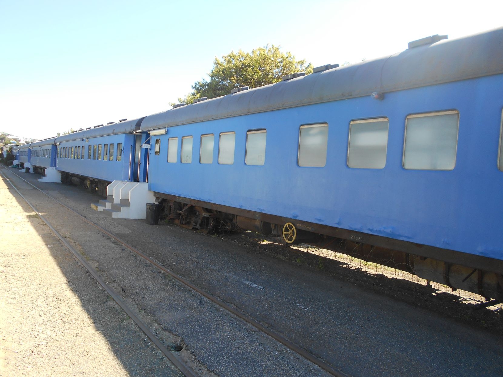 The Santos Express Train in Mossel Bay is a hostel in a former passenger train, with each guest having a private berth.
