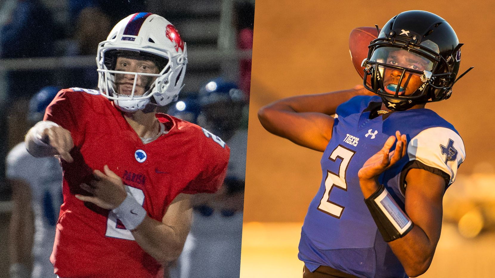 Parish Episcopal's Preston Stone (left) and TC-Cedar Hill's Shedeur Sanders (right).