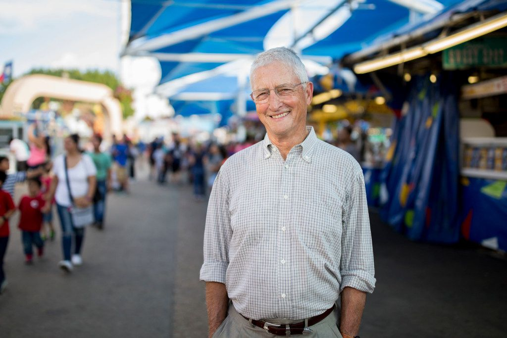 Don Williams, founder of nonprofit corporation Foundation for Community Empowerment, poses for a portrait at the Midway during the State Fair of Texas at Fair Park on Oct. 19, 2016 in Dallas. (Ting Shen/The Dallas Morning News)