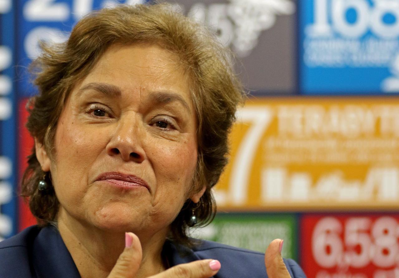 Sarah Saldaña, directora de Inmigración y Aduanas (ICE), durante una entrevista con Al Día y The Dallas Morning News.