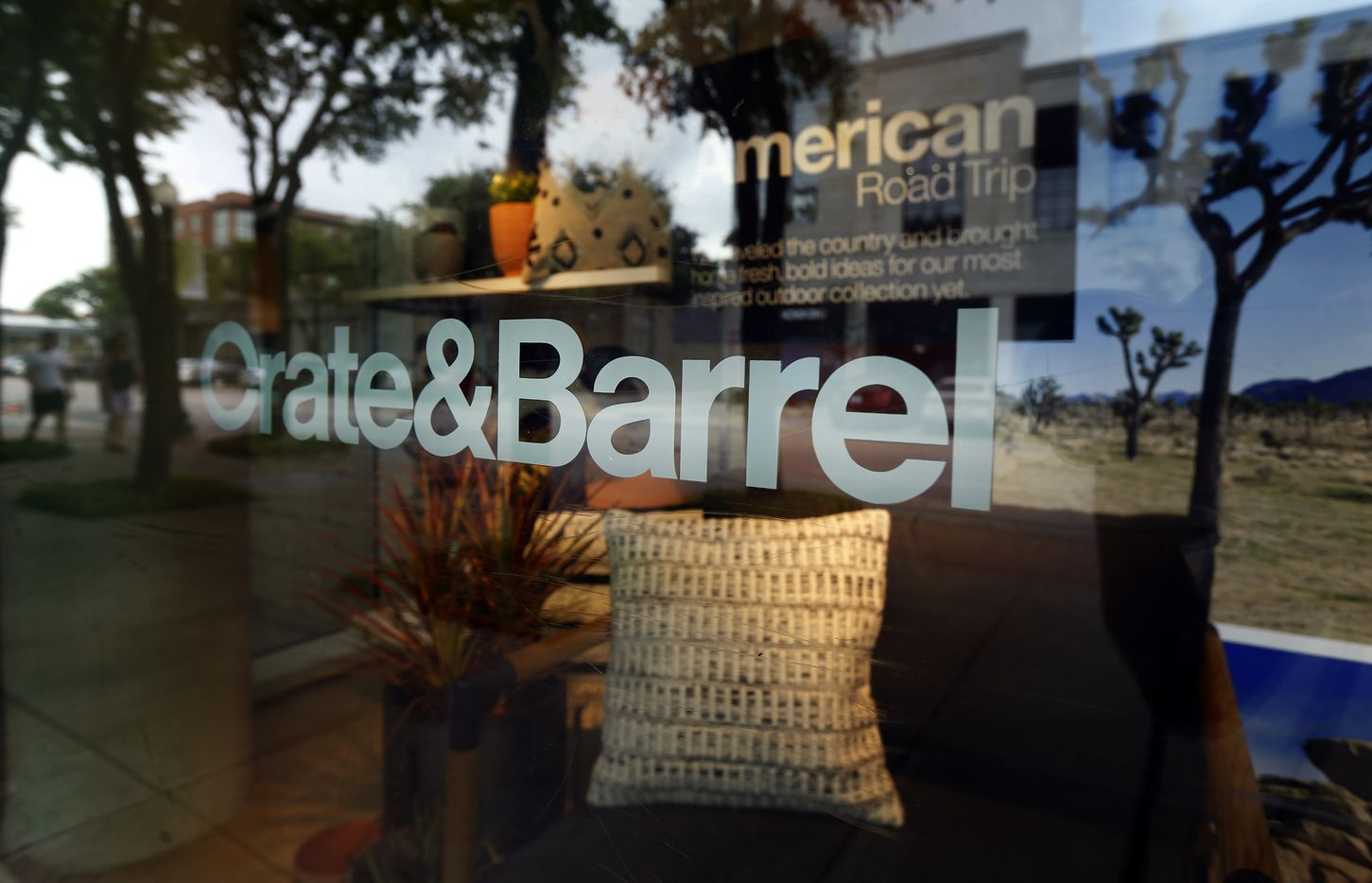 A Crate and Barrel window display is seen at their store on Knox St. in Dallas, Wednesday, May 1, 2019. Crate & Barrel likes Knox Street so much it's bringing a second store to the district. The Chicago-based retailer has a sister chain called CB2 that's planning to open later this year just south of Knox on McKinney.