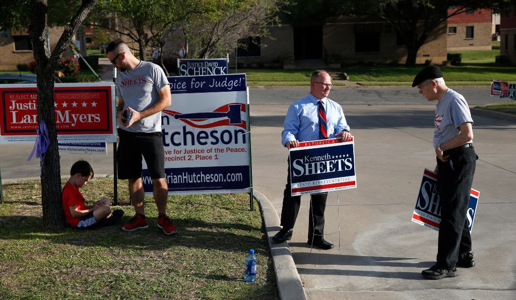Kenneth Sheets (second from right) hopes to succeed Jeb Hensarling in Congress. (2016 File Photo/Nathan Hunsinger)