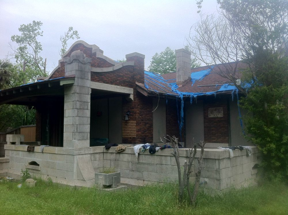 The Bianchi House on Reiger as it looked last week, before code officers stepped in (Robert Wilonsky)