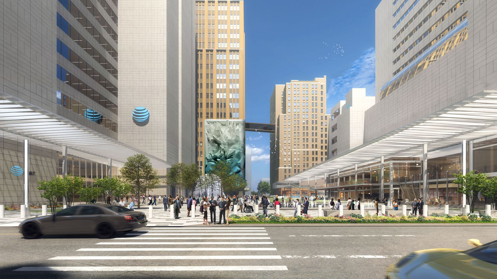 AT&T's Discovery District is the largest redevelopment in downtown Dallas.
