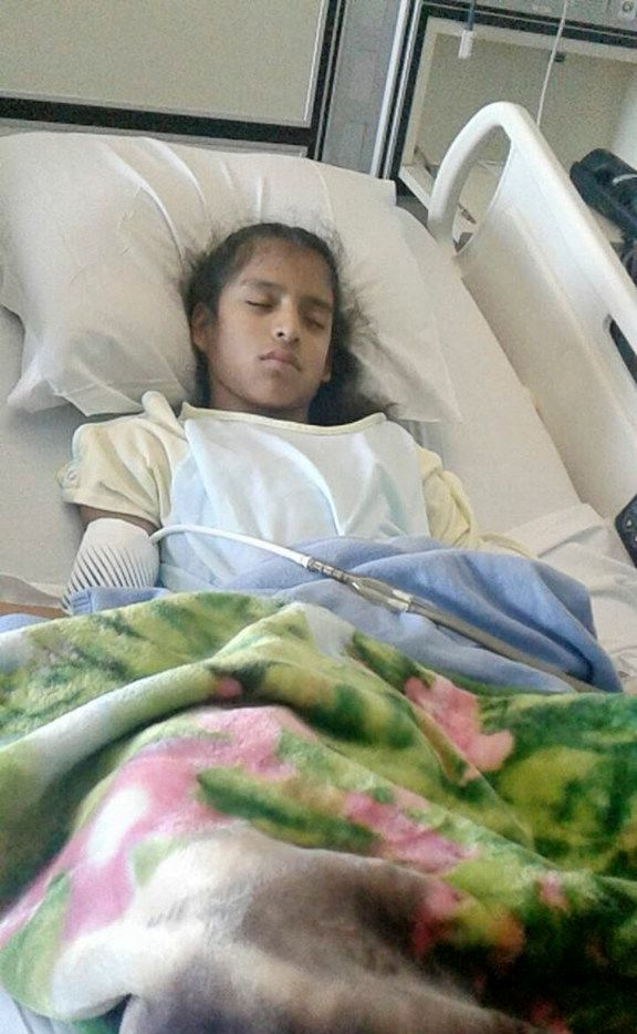 In an undated photo provided by her family, Rosamaria Hernandez, a 10-year-old unauthorized immigrant with cerebral palsy. Hernandez, who was brought across the border when she was three months old, was detained by immigration authorities after undergoing emergency gall bladder surgery on Oct. 24, 2017. (Handout via The New York Times) -- -- NO SALES; FOR EDITORIAL USE ONLY WITH STORY SLUGGED IMMIG-GIRL-SURGERY BY YEE AND DICKERSON FOR OCT. 26, 2017. ALL OTHER USE PROHIBITED. --