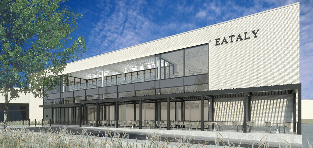A digital rendering of plans for an Eataly in NorthPark Center. Eataly, a hybrid grocery and restaurant that's as big as a grocery store, is only in a handful of U.S. malls.