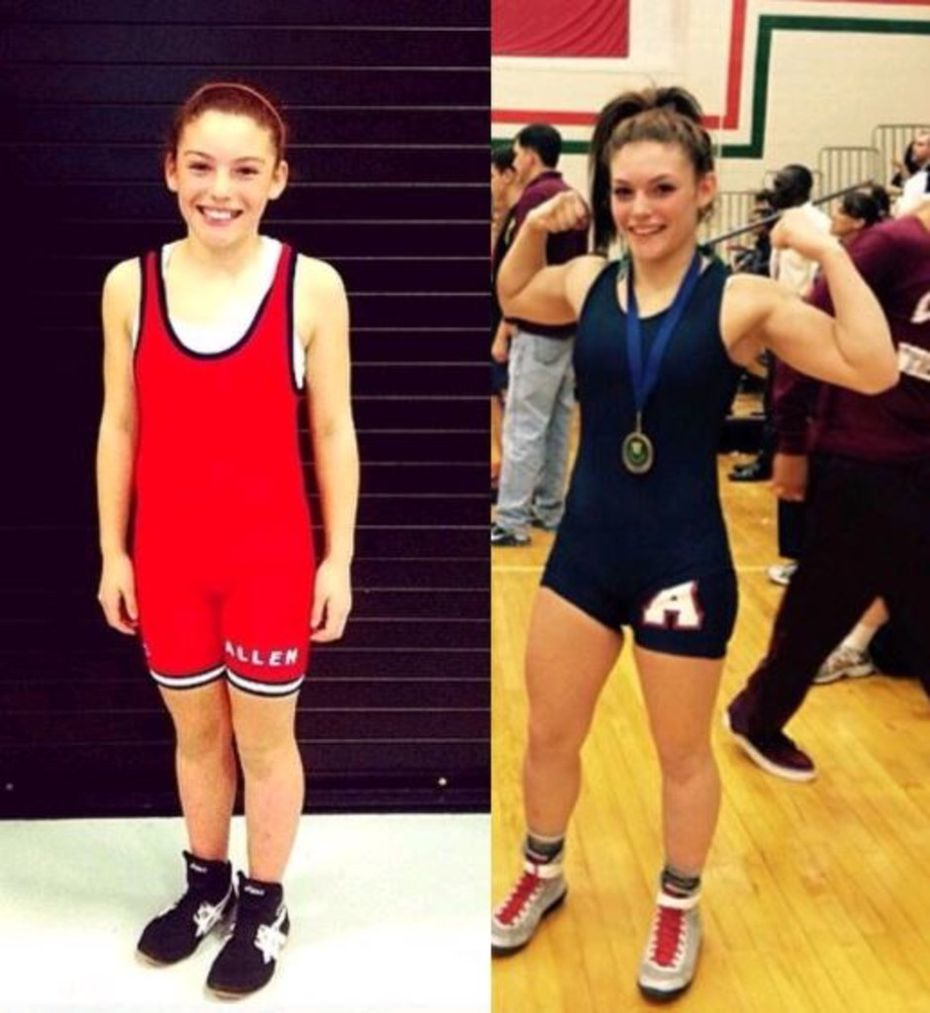 Allen wrestler Alex Liles started wrestling when she was 10. Now, at 17, she is one of the most accomplished wrestlers in UIL state history (Courtesy, Liles family)