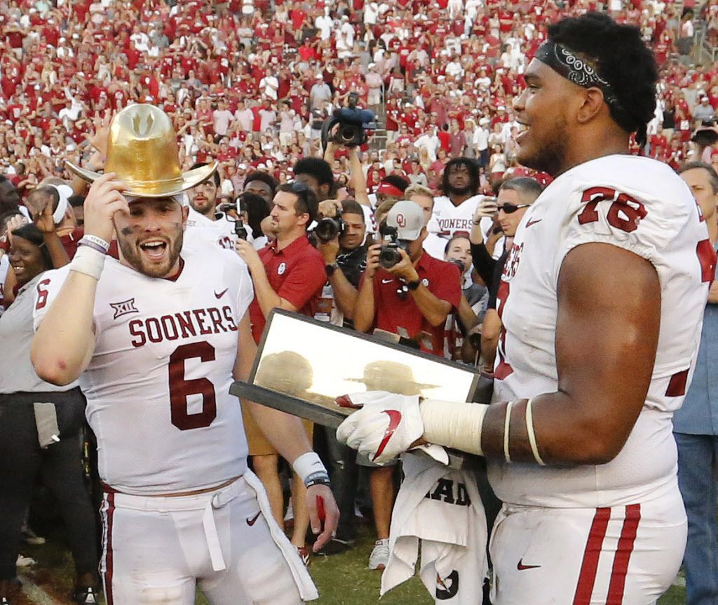 super popular fb432 dab77 Baker Mayfield talks about planting the flag, his 'traitor ...