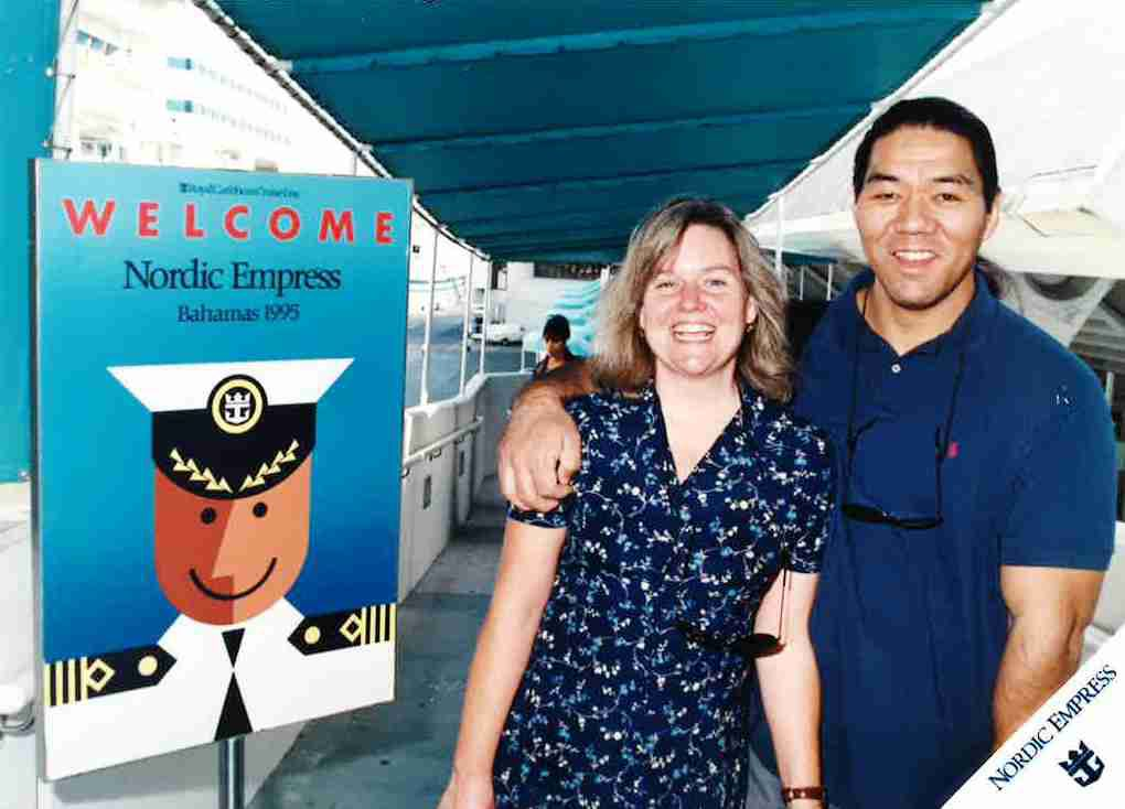 Columnist Jacquielynn Floyd and her husband, editorial writer Mike Hashimoto, on a cruise in 1995, when they were dating.