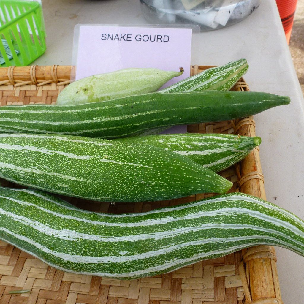 Among Gardeners in Community Development's more unusual offerings: snake gourds, which  you cook like squash. At White Rock Good Local Market.