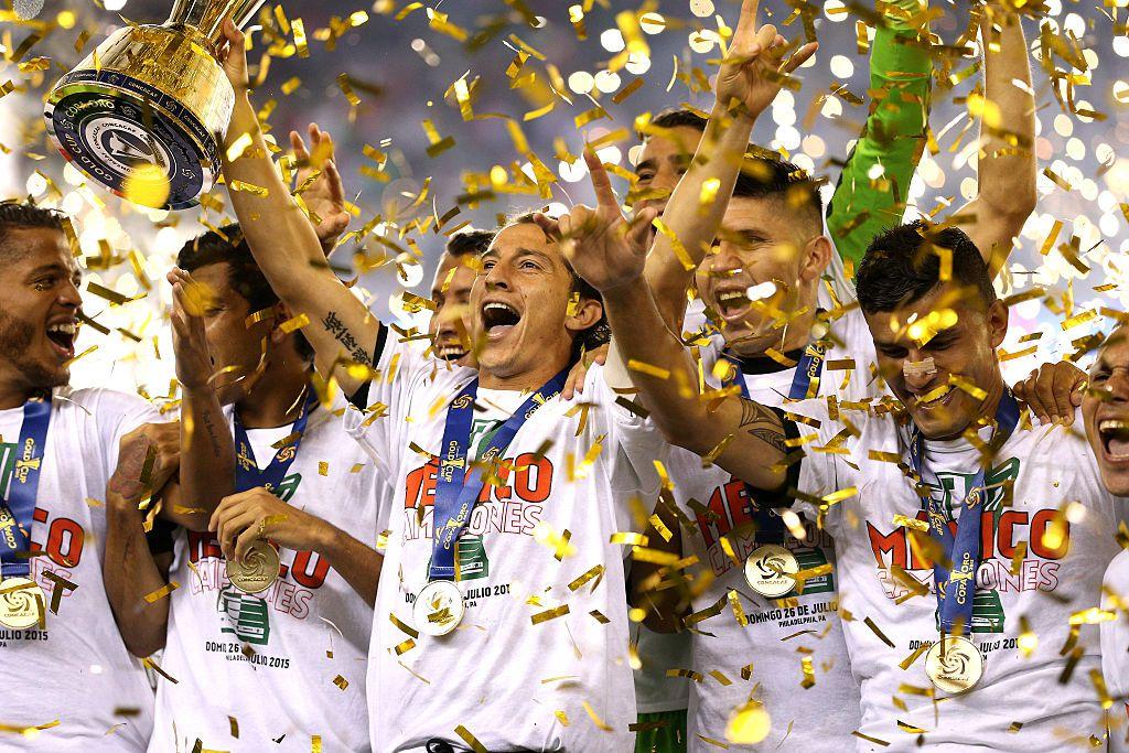 Andrés Guardado y el Tri podrían levantar la Copa Oro otra vez como lo hicieron en 2015. La final es el domingo 7 de julio contra Estados Unidos. (Foto por Patrick Smith/Getty Images)