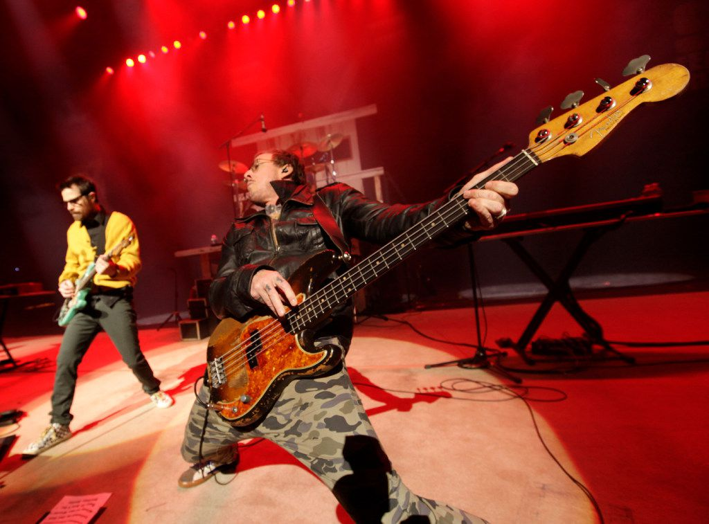 Weezer performs during the How The Edge Stole Christmas show at Verizon Theatre in Grand Prairie on Dec. 6.