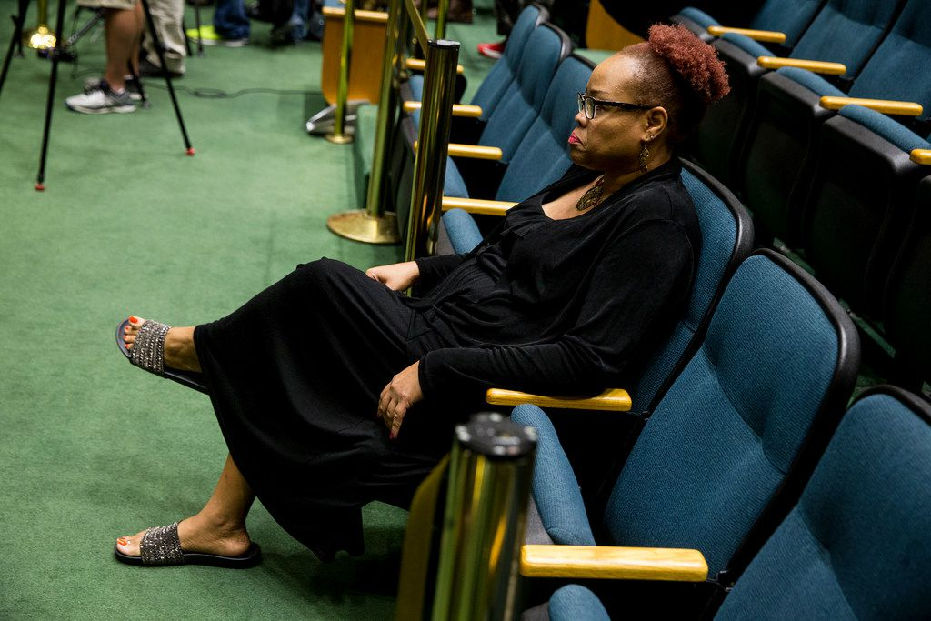 Dr. Pamela Grayson and others had to wait for an open-mic session to begin before addressing the Dallas City Council on Wednesday.