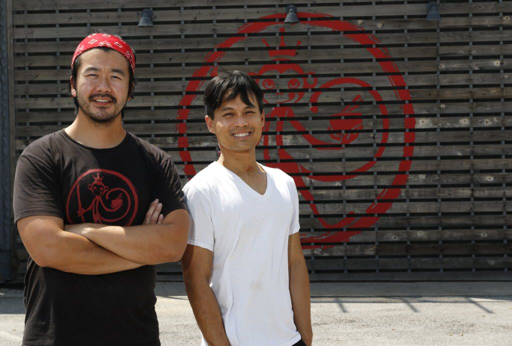 Andrew Chen, left, owner of Monkey King Banana Stand, with Cuong Vo, Pastry Chef, opened in Deep Ellum in Dallas, Wednesday, August 31, 2016. (David Woo/The Dallas Morning News)