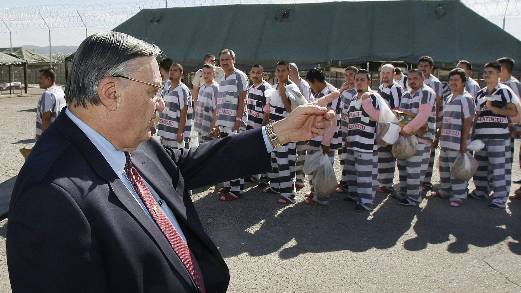 Joe Arpaio, el ex sheriff del condado Maricopa, Arizona, que abrió una cárcel para indocumentados cuando fungía de sheriff.