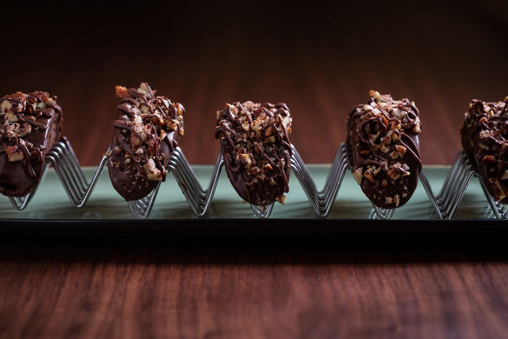 Chocolate Tacos, dessert from Live Oak, the newly renovated lobby bar at Four Seasons Austin