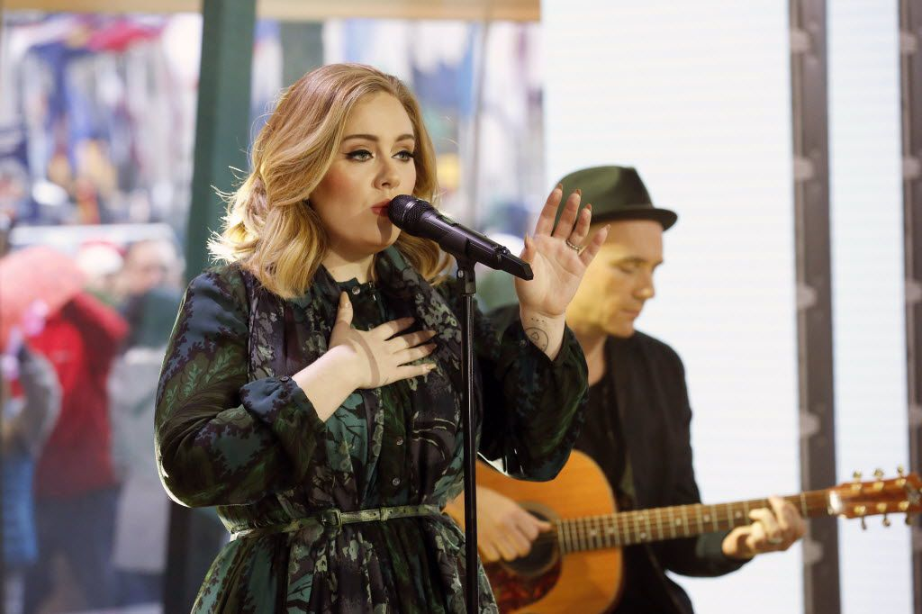 """Adele performs on the """"Today"""" show on Wednesday, Nov. 25, 2015."""