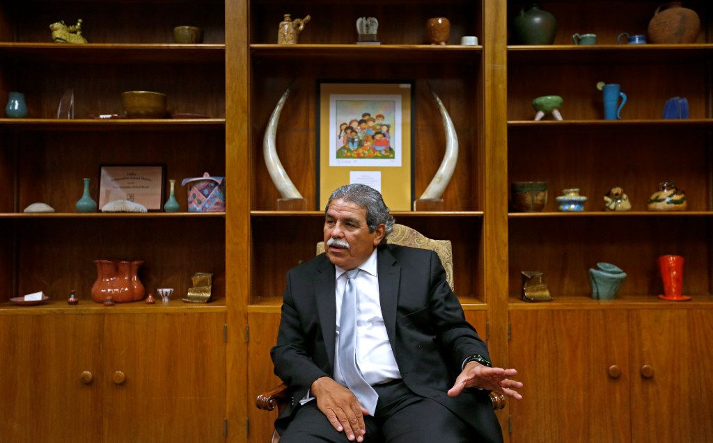 Superintendent Michael Hinojosa talks during an interview at Dallas Independent School District in Dallas, Wednesday, Sept. 21, 2016. (Jae S. Lee/The Dallas Morning News)