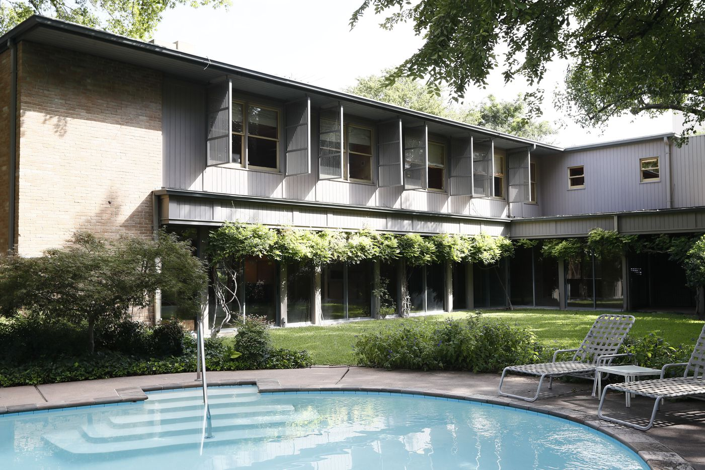 From the back, the Penson house has direct views of Prather Park and Connor Lake, the southernmost lake on Turtle Creek.