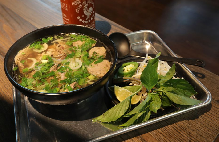 Nguyen Pham made the beef pho served at Pho Corner at Urban8 in The Colony.