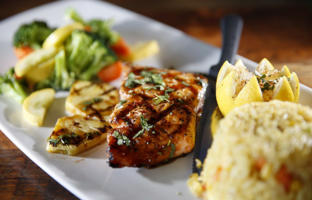 Market fresh grilled salmon at Rock & Brews in The Colony, Texas, Tuesday, March 8, 2016. (Jae S. Lee/The Dallas Morning News)