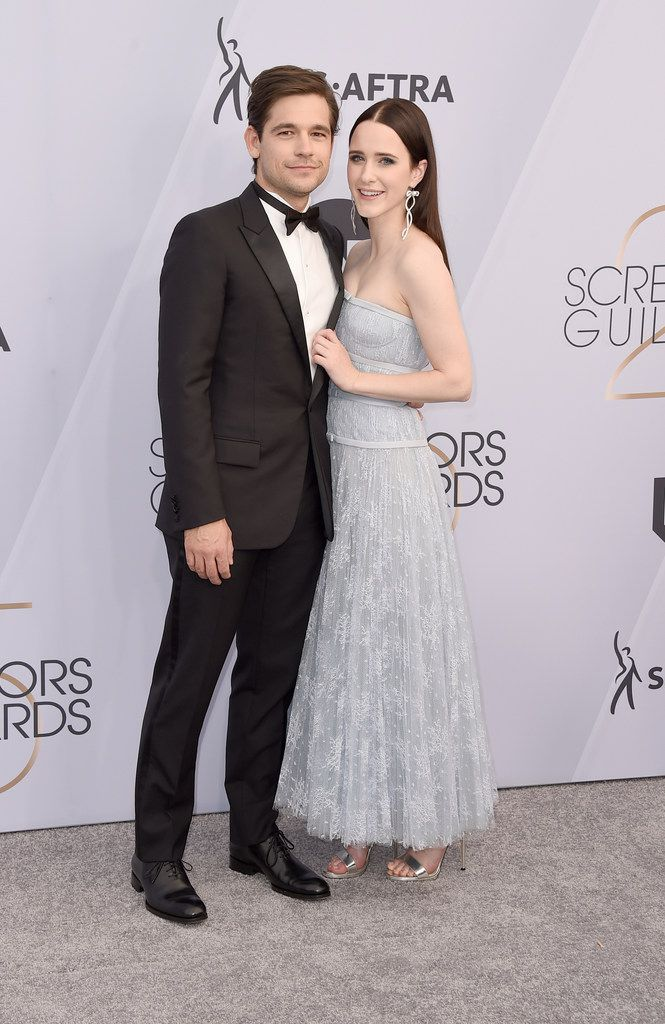 Jason Ralph, who was born in McKinney, and wife Rachel Brosnahan arrive at the 25th annual Screen Actors Guild Awards at the Shrine Auditorium & Expo Hall on Jan. 27, 2019, in Los Angeles. (Jordan Strauss/Associated Press)
