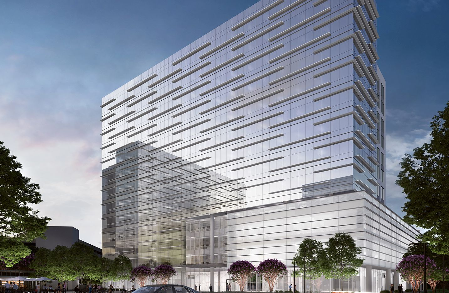 Rosewood Property Co. and Houston-based Patrinely Group will team up to build the 12-story One Heritage Creekside tower.