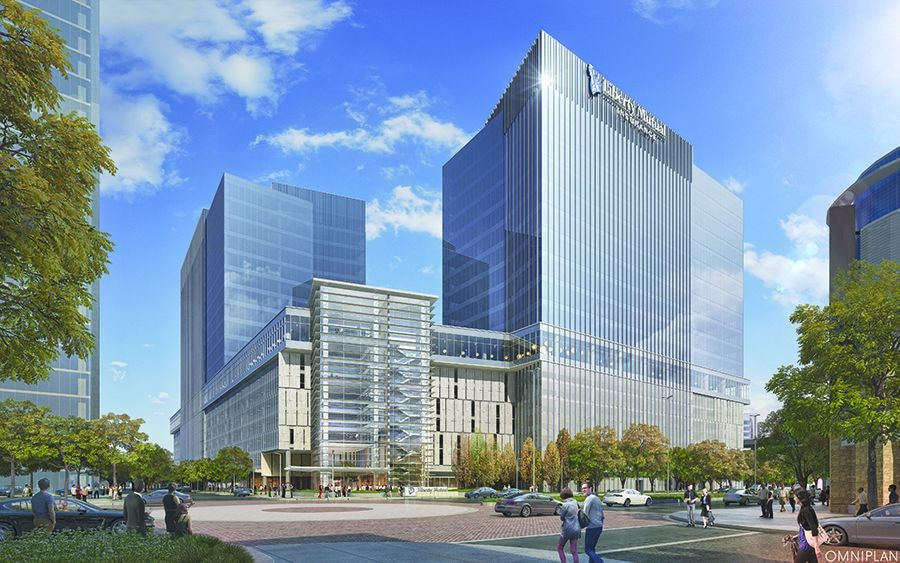 Liberty Mutual Insurance: Plano regional office, a two-building, 1.2 million-square-foot office complex in the Legacy West development at the Dallas North Tollway and Headquarters Drive. The project cost $360 million and will house almost 5,000 workers when it opens late this year.