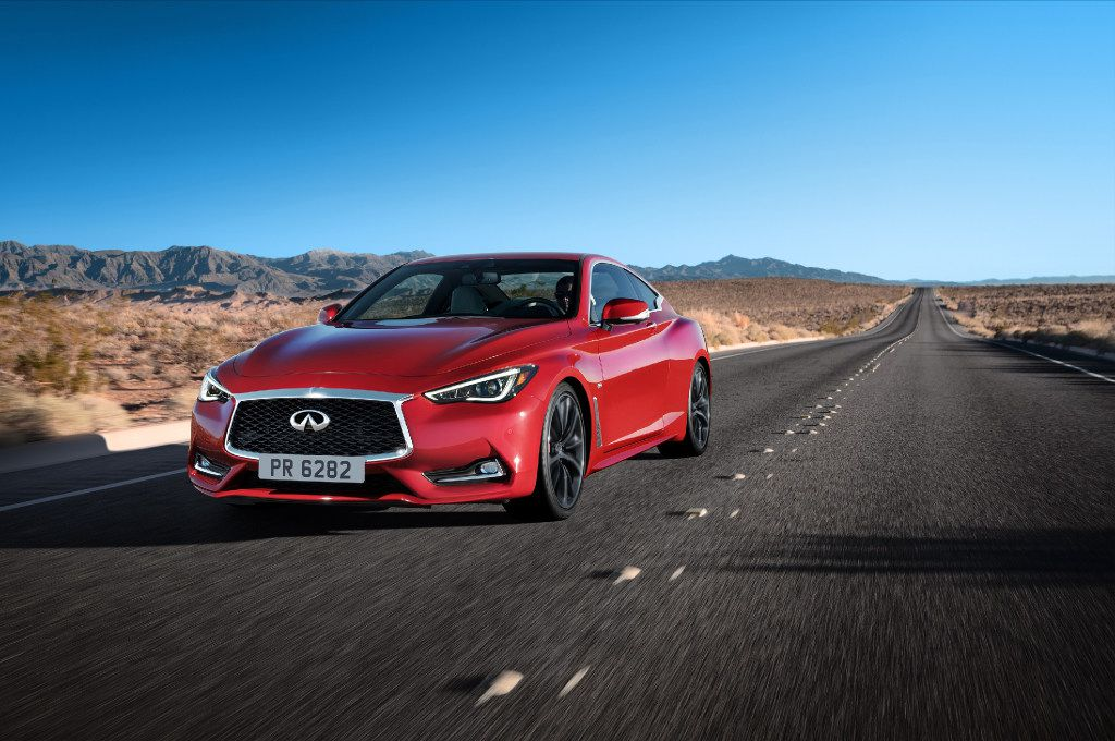 The 2017 Infiniti Q60 includes new adaptive steering and digital suspension systems. (Handout/Infiniti)