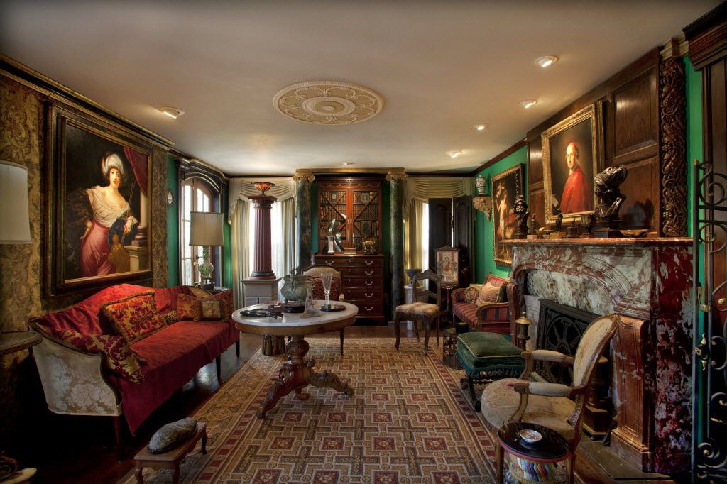 The living room at the house of James Dowell and John Kolomvakis in Dallas.