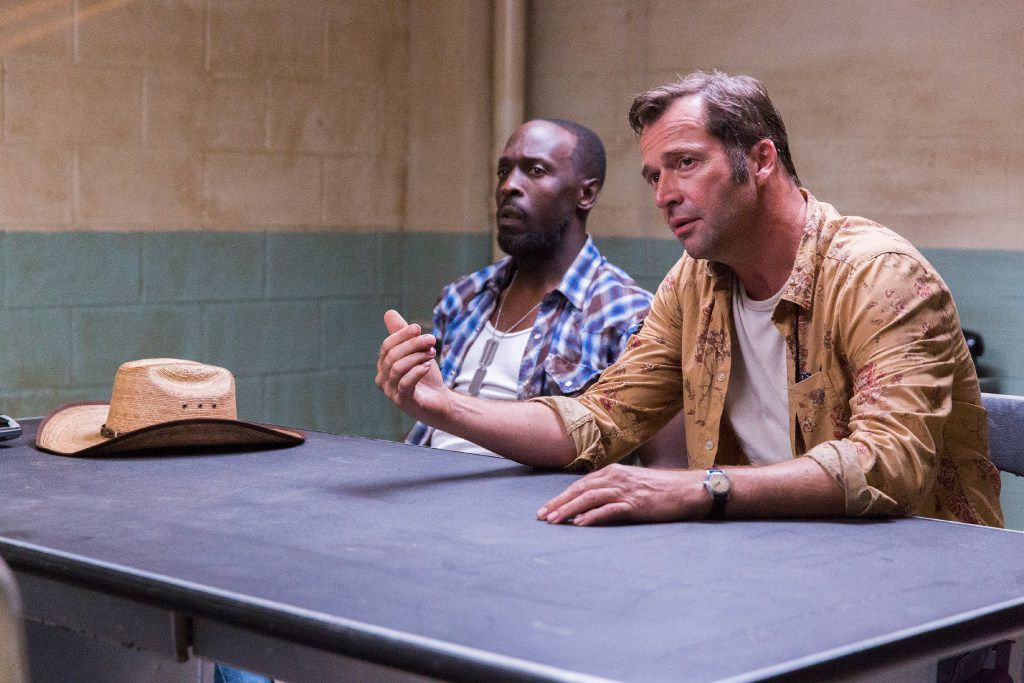 Leonard (Michael Kenneth Williams) and Hap (James Purefoy) star in Hap and Leonard: Mucho Mojo. The two-season Sundance TV show was based on the novels of Joe R. Lansdale.