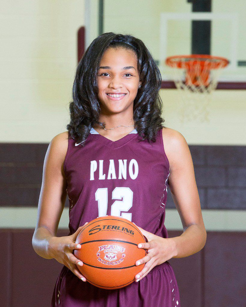 Plano's Jordyn Merritt is the 2017 Dallas Morning News girls basketball Newcomer of the Year.