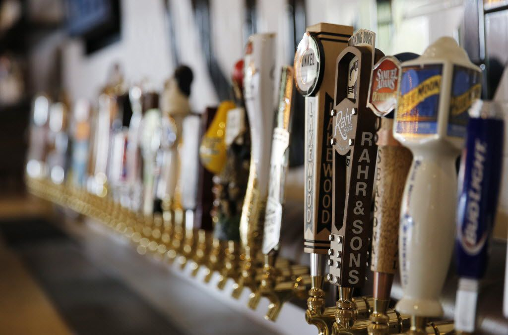 50 beer taps are available at the Happiest Hour in Dallas on Thursday, October 8, 2015.