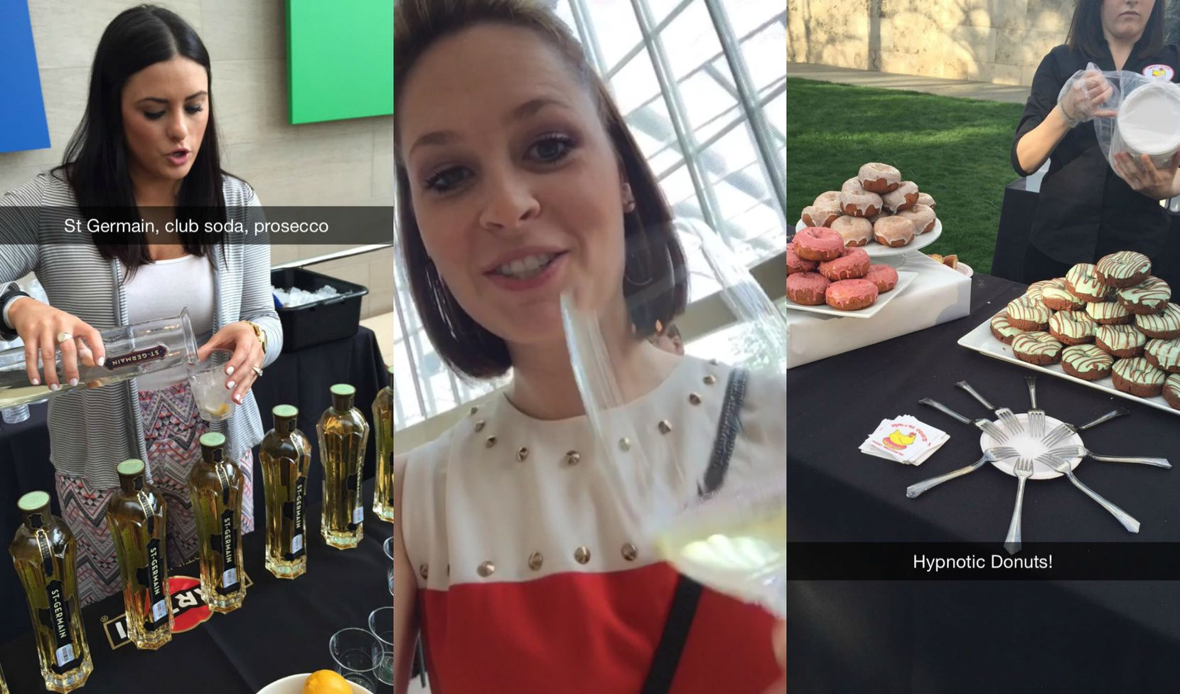 Snaps from Savor Dallas' Wine Stroll at the Dallas Arts District. (That's our Sarah in the middle)