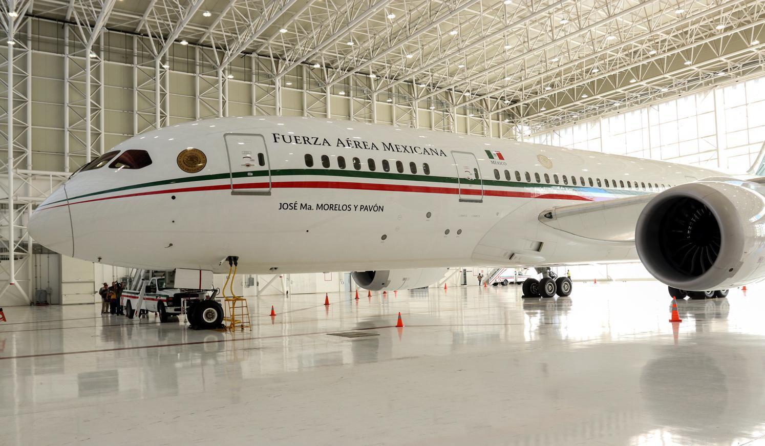 El avión Boeing 787-8 propiedad del gobierno de México fue puesto la venta.(AGENCIA REFORMA)