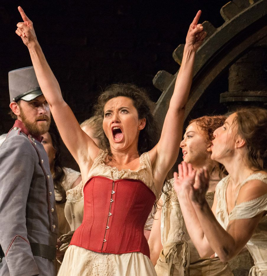 Stéphanie d'Oustrac takes on the title role in the Dallas Opera production of Carmen at the Winspear Opera House in Dallas, Texas on October 16, 2018.