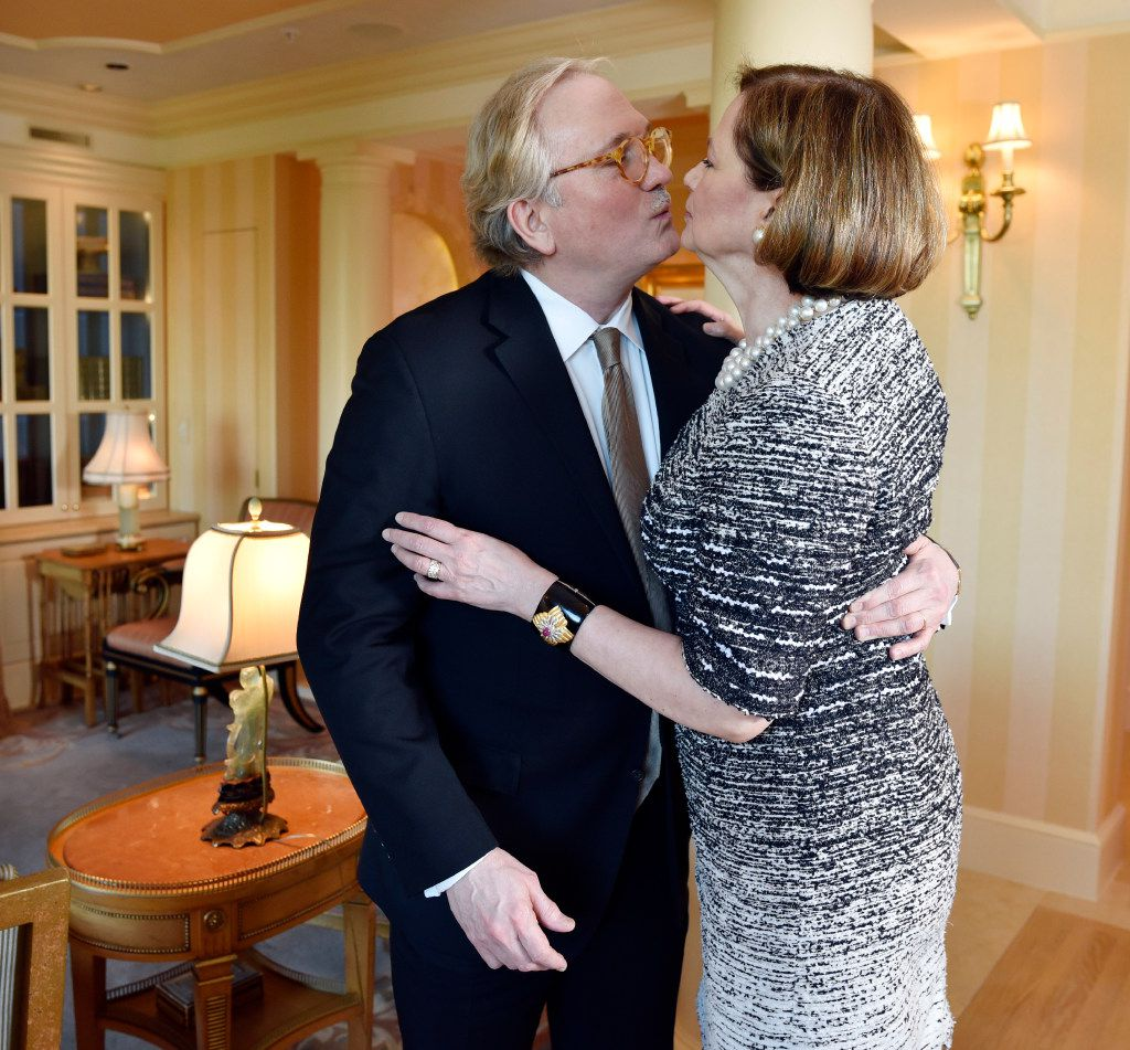 Husband-and-wife lawyers Don and Carol Glendenning, at their home in Dallas. (Ben Torres/Special Contributor)