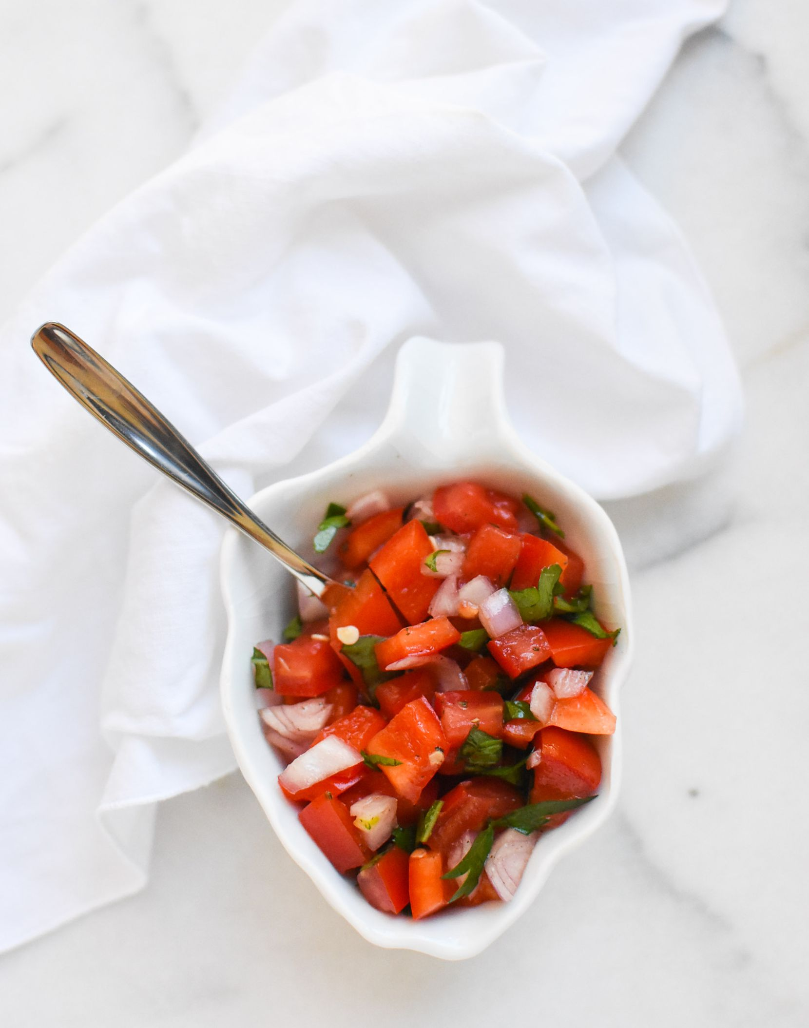 Tomato and Red Bell Pepper Salad