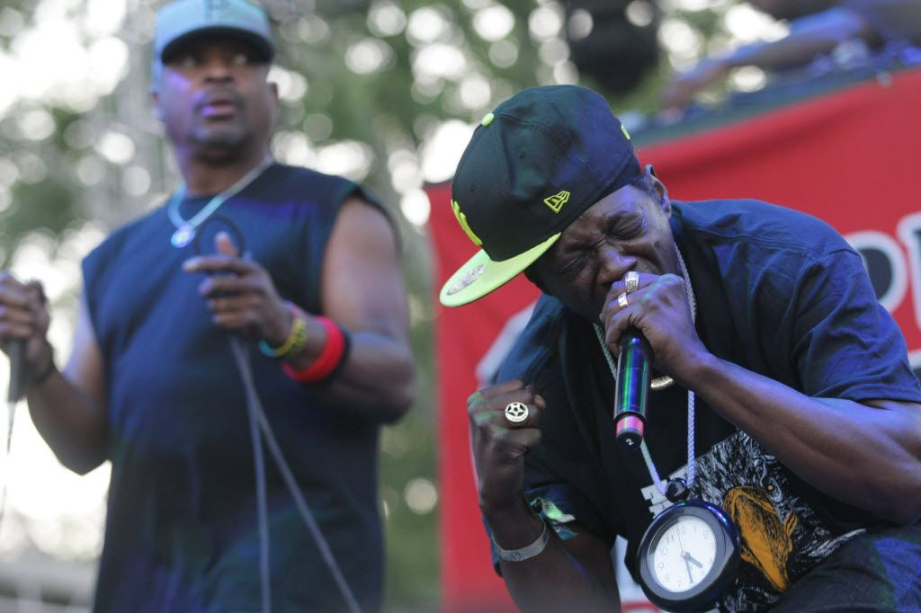 Flavor Flav, right, and Chuck D in 2013.