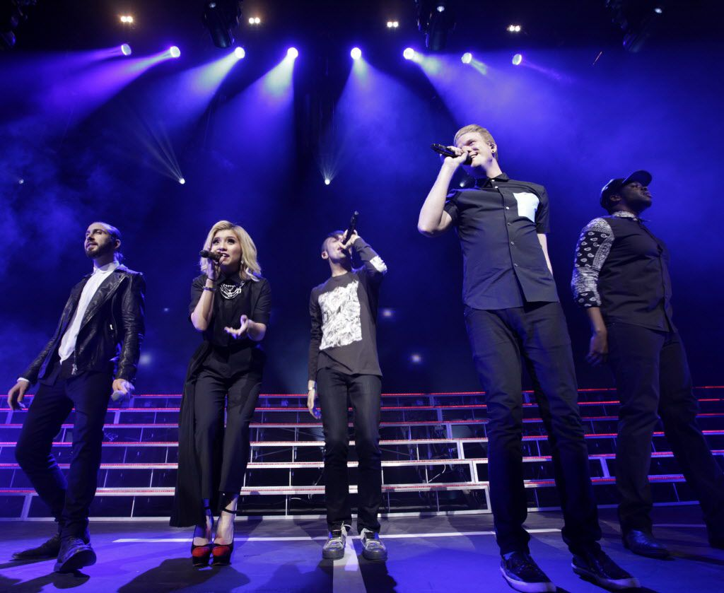 Pentatonix performs at Verizon Theatre in Grand Prairie, TX, on Mar. 29, 2015.