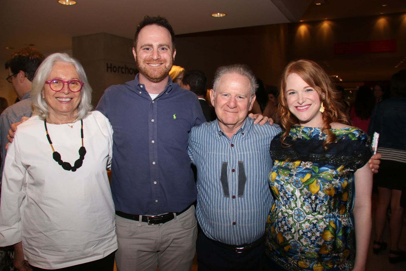 Co founder Anton Schlesinger with his wife and parents as Oral Fixation concluded its 4th season with the best of season four at the Dallas Museum of Art on August 15, 2015