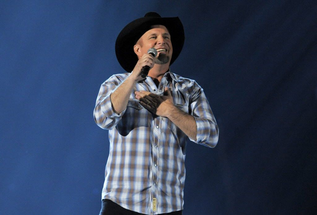 This April 7, 2013 file photo shows Garth Brooks performing at the 48th Annual Academy of Country Music Awards  in Las Vegas, Nev.