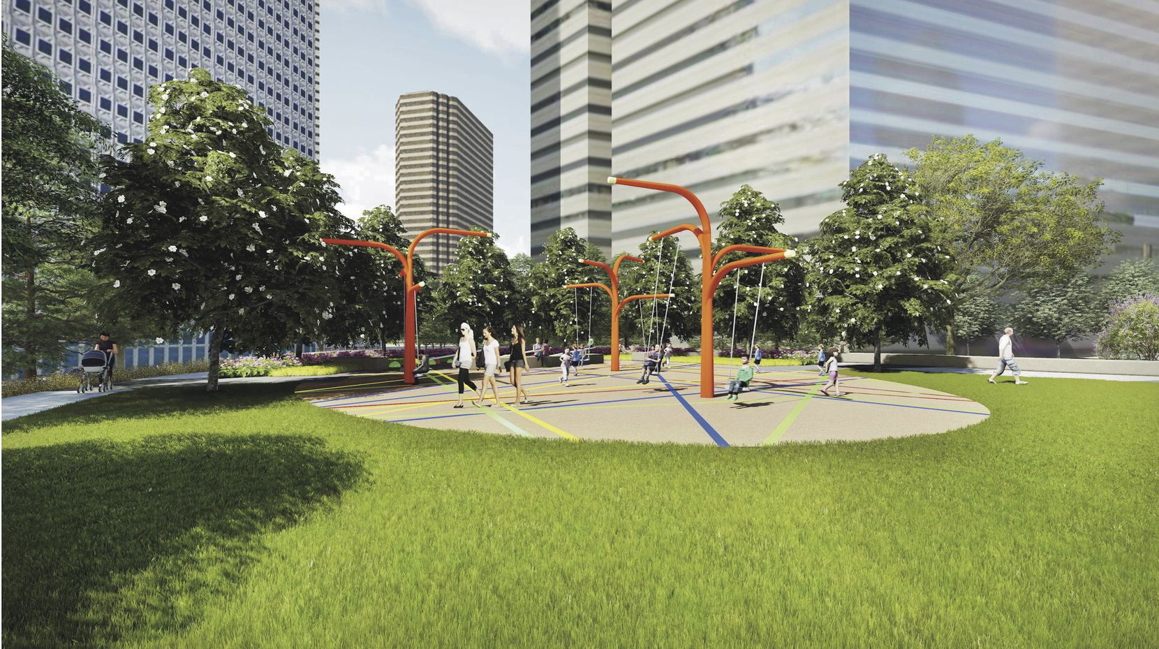 For $10 million you can name Pacific Plaza park will open in 2019.