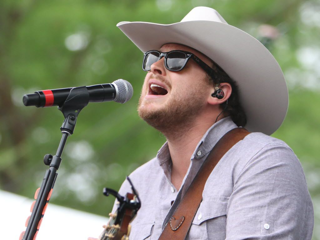 Josh Abbott of the Josh Abbott Band performs at the Academy of Country Music's Party for a Cause music festival at Globe Life Park on Friday, April 17, 2015 in Arlington, Texas.