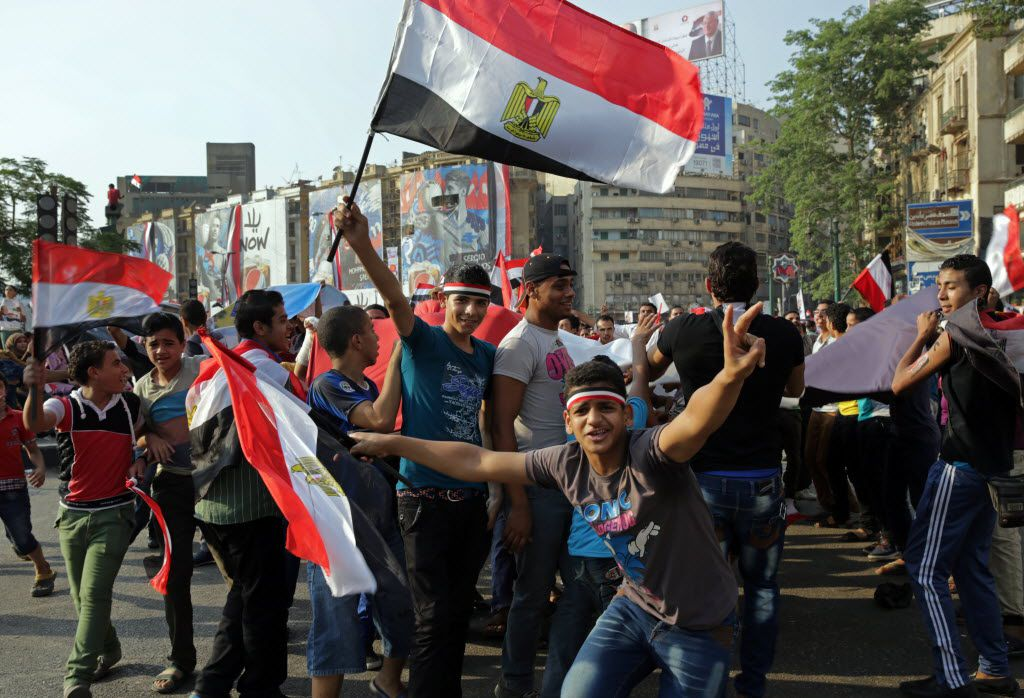 Supporters of Egyptian President Abdel-Fattah el-Sissi celebrated his inauguration in Tahrir Square in Cairo in June 2014. Egypt was apparently the first stop of the Ali brothers before they went to fight for ISIS in Syria.
