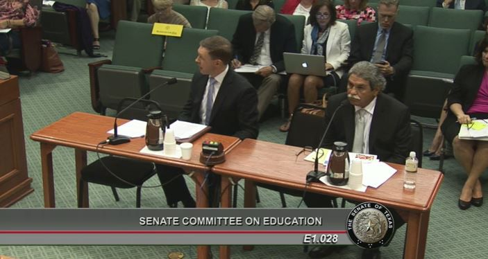 San Antonio ISD board member Steve Lecholop testified in August, while Dallas ISD Superintendent Michael Hinojosa waited his turn.
