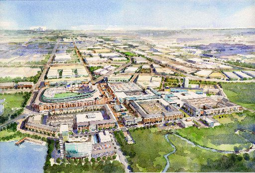 Artist rendering of proposed Glorypark in Arlington.