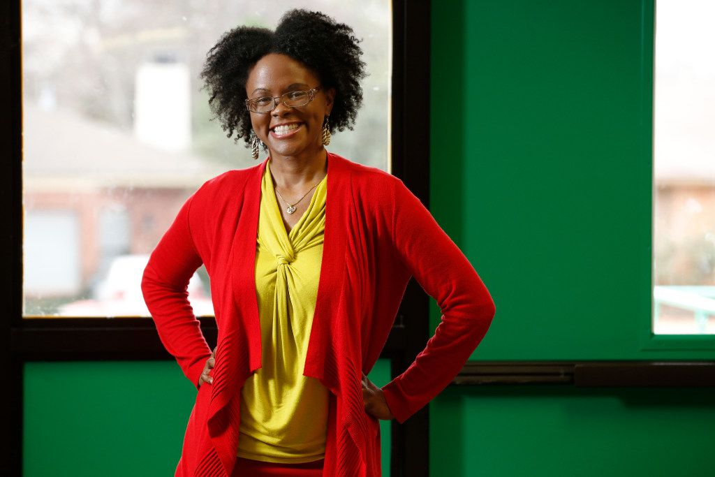 Alicia Morgan of Little Elm is a former Boeing aerospace engineer and an advocate for science, technology, engineering, arts and mathematics education at Bryan Adams High School in East Dallas. (Nathan Hunsinger/Staff Photographer)